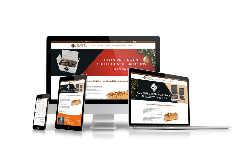 Création du site internet pour la Chocolaterie Chaloin
