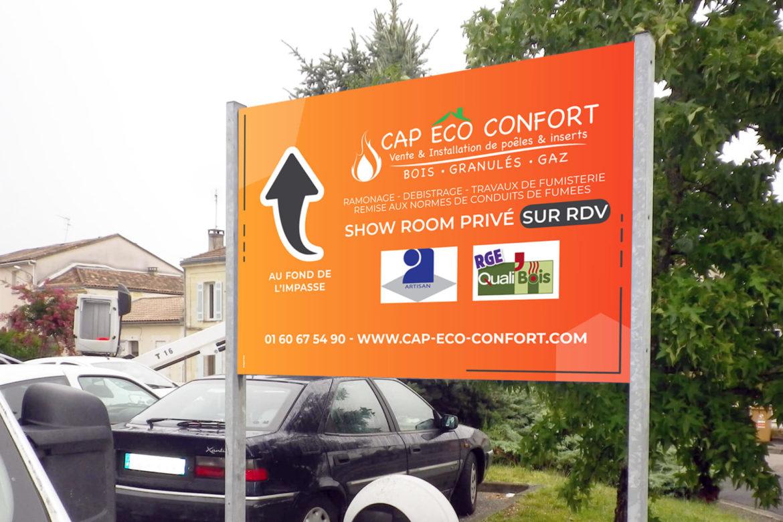 Panneau magasin Cap Eco Confort