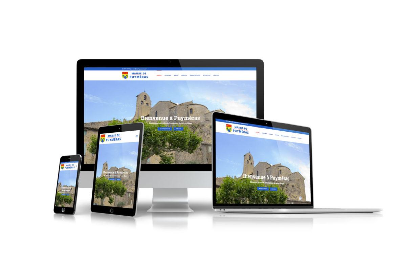 Création de site internet à sablet proche d'Avignon mairie de puymeras