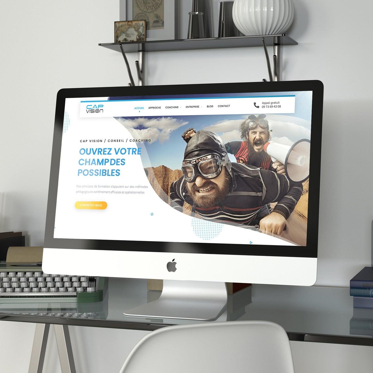 Création de site internet de Coach Cap Vision