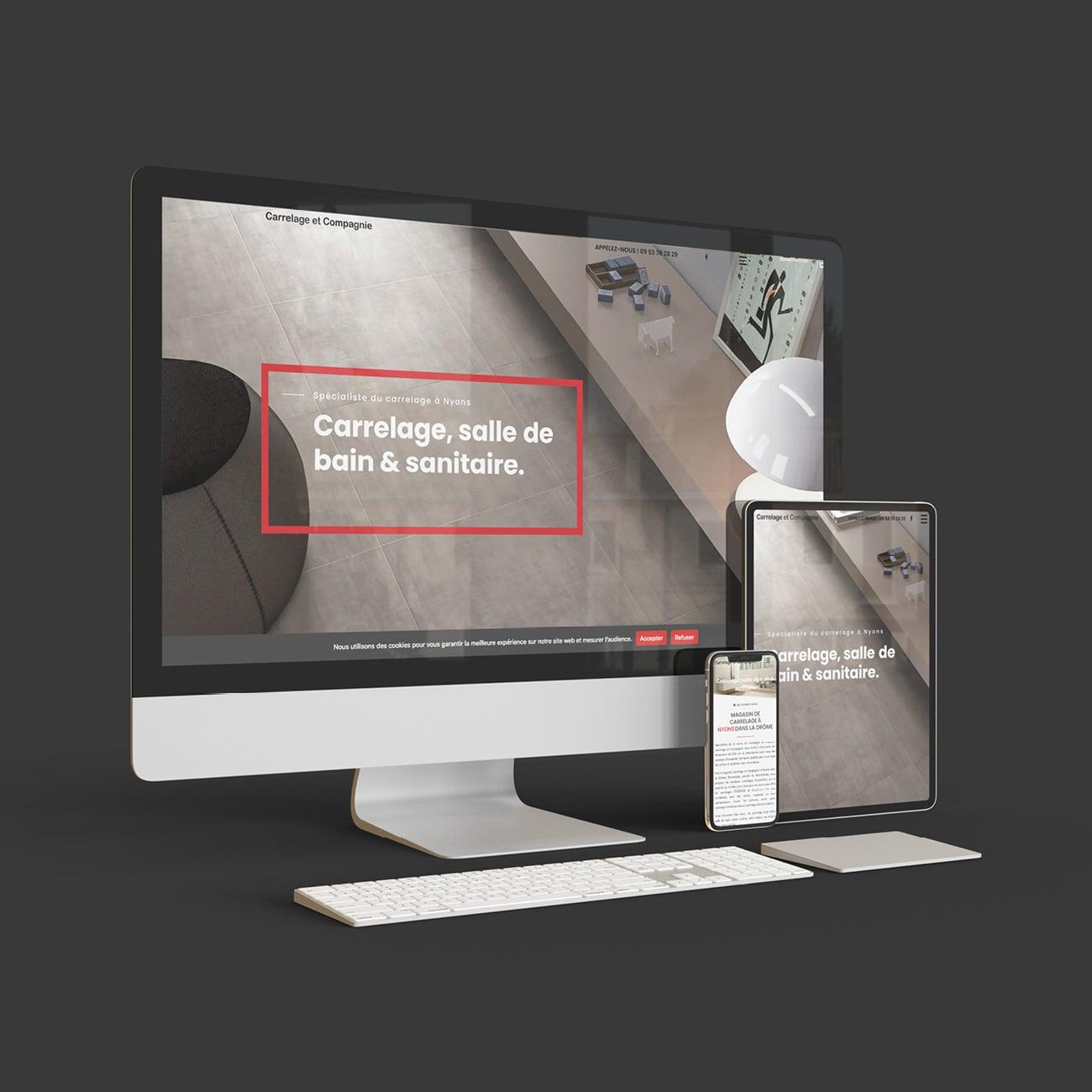Creation site internet de carrelage & Comapgnie à Nyons