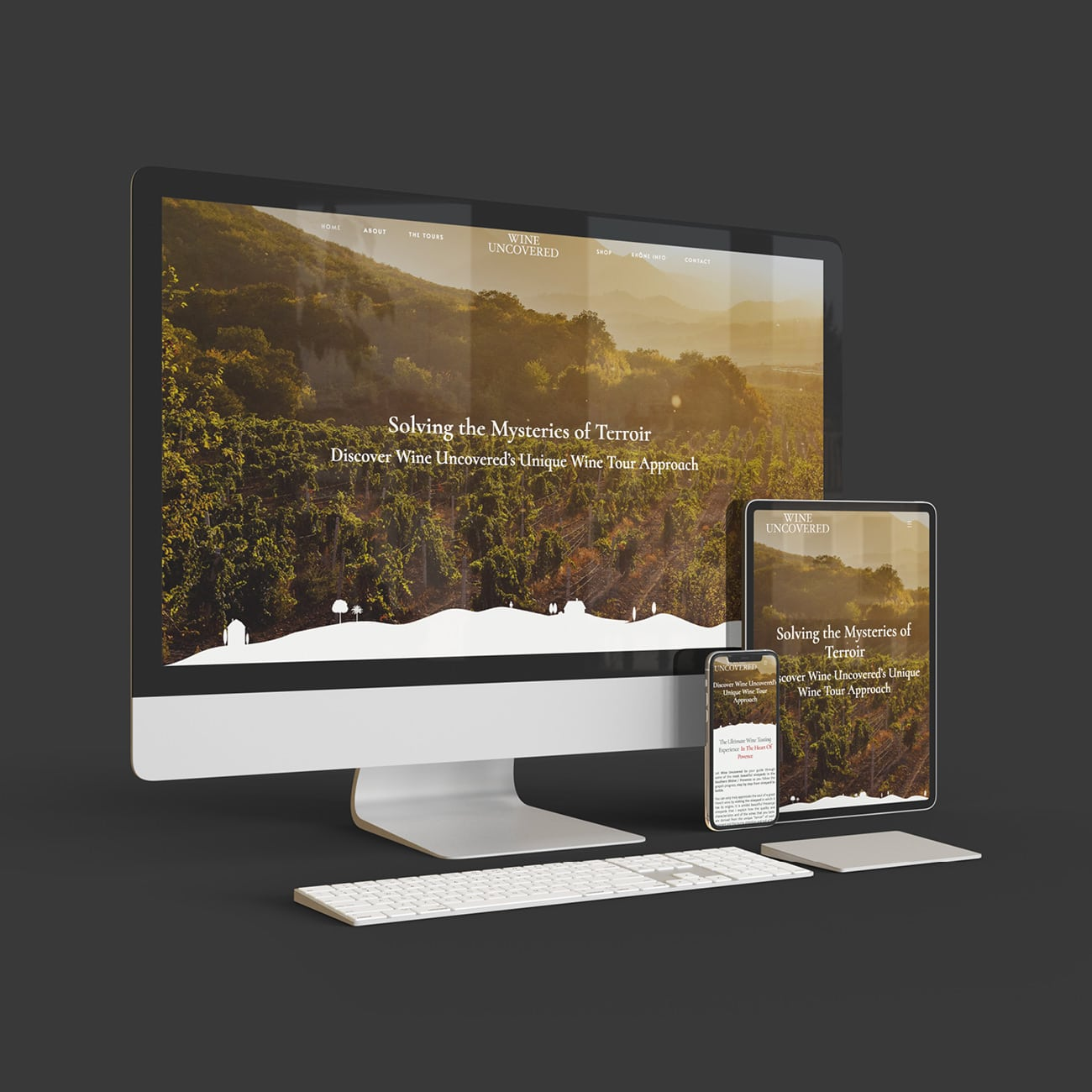 Creation site internet Wine Uncovered